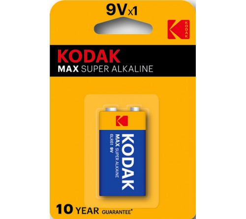 Крона  KODAK           6LR61 (10)          Блистер Alkaline