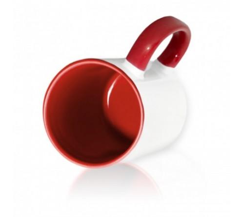 Кружка цветная внутри+цв. ручка Sublimation B101 (бордовая) арт MUG03