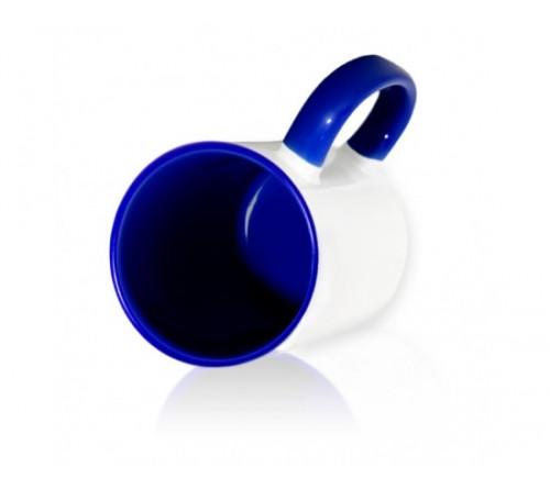 Кружка цветная внутри+цв. ручка Sublimation B101 (синяя)