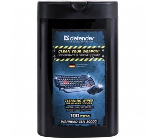 Defender  CLN 30000  Салфетки чистящие влажные для игровых устройств в тубе (100 шт)