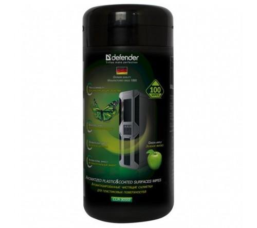 Defender  CLN 30333  Салфетки чистящие влажные универсальные в тубе (100 шт)  (12) Яблоко