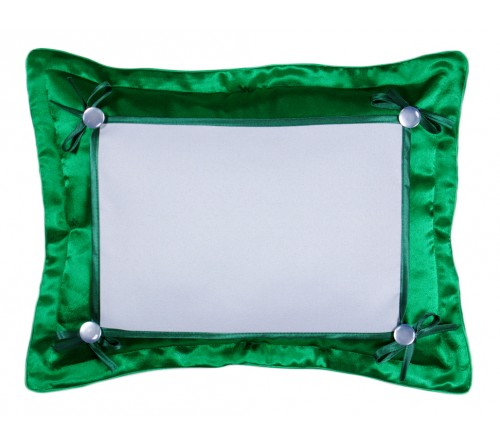 Подушка прямоугольная Белла 45*35 зеленая 21*30