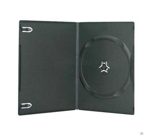 DVD бокс Slim 9 мм   ОДИНАРНЫЙ  Черный Глянцевый (100) Руб
