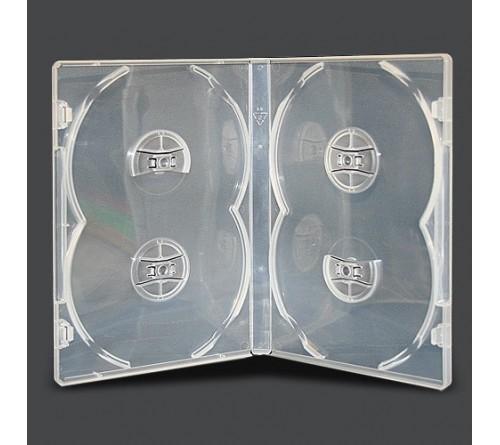DVD бокс Стандарт 14 мм  DVD-  4  ПРОЗРАЧНЫЙ глянцевый  (100)