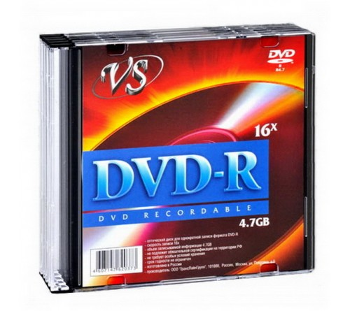 DVD-R        VS 4.7Gb 16x  Slim      (  5)(200)