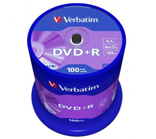 DVD+R       VERBATIM  4.7Gb 16x  (Cake 100)(400)