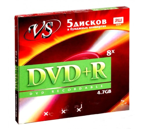 DVD+R       VS 4.7Gb 16x  (в конвертах) (250)