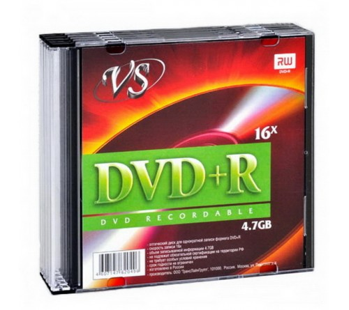 DVD+R       VS 4.7Gb 16x  Slim      (  5)(200)