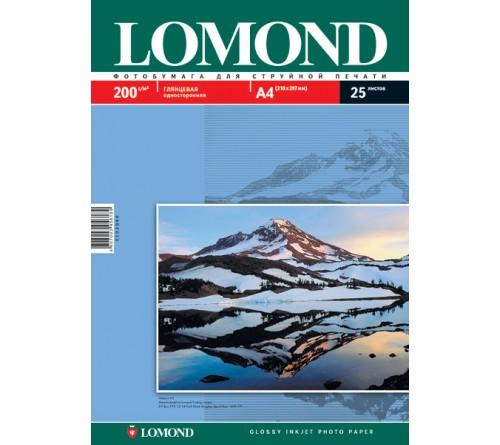 Фотобумага LOMOND  A4      200г/м2 Односторонняя Глянцевая                    50л  (18)