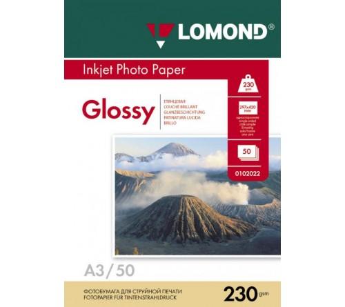 Фотобумага LOMOND A3       230г/м2 Односторонняя Глянцевая                    50л  (9)