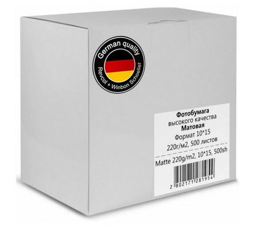Фотобумага REVCOL  10x15 220г/м2 Односторонняя Матовая                     500л  (  8)