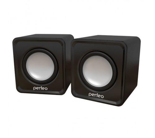 Колонки Perfeo PF-  128 Wave B             2.0 (2*   3W)  Black Пластик,USB.для Ноутбука