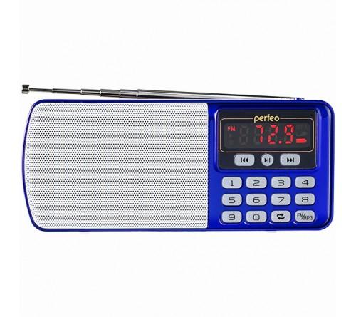 Радиоприемник-миниспикер Perfeo PF-I120-BL    Егерь                           FM,MP3 USB,microSD BL-5C Blue
