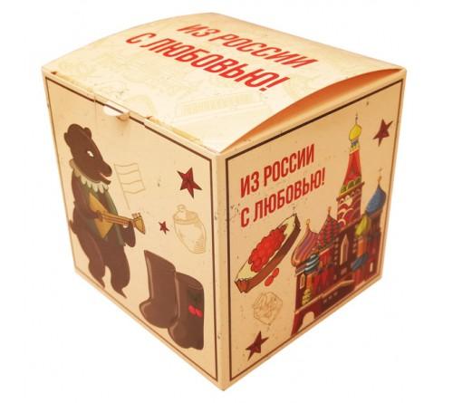 Подарочная коробка для кружки Сердечко с окном КРАСНАЯ арт 10423-2R