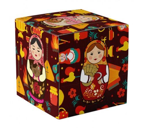 Подарочная коробка для кружки Сердечко с окном СЕРЕБРО арт 10423-2S