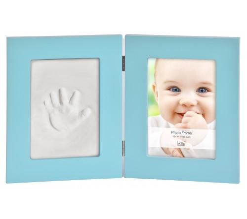 Ф/рамка Innova PI07886 13x18 фоторамка + набор для лепки Baby Keepsake photo and imprint kit Голубая Мультирамка
