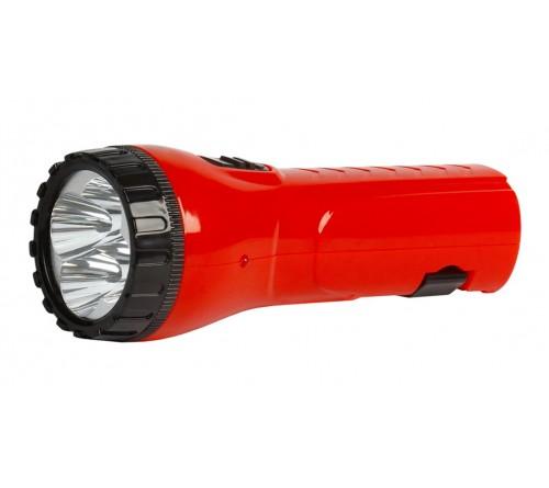 Фонарь Smartbuy SBF-  93-R, красный. Аккумуляторный светодиодный фонарь. 4LED. Аккумулятор 4V 0.5Ah. Подзарядка от сети 220 V
