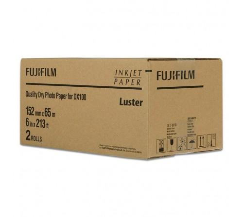 Расходники для DX-100  FUJIFILM DRYPHOTOPAPER DX 220LU 152MMX65MA   Lustre       ( 2 )