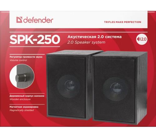 Колонки DEFENDER SPK250                  2.0 (2*   4W)  Пластик