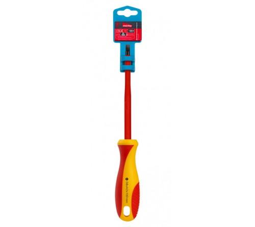 Отвертка Диэлектрическая Шлицевая  Smartbuy (SBT-SCI-SL4x 100P1) SL4x100, до 1000В, VDE, прорез.ручка, серт. испыт. Tools