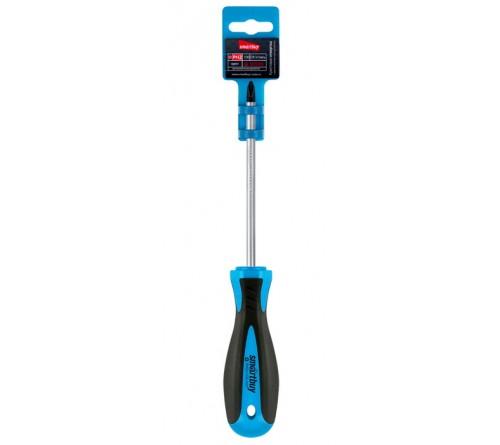 Отвертка Крестовая Smartbuy (SBT-SCS-PH2x100P1) эргономичная 2х-компонентная рукоятка, CR-V, магнит, Tools