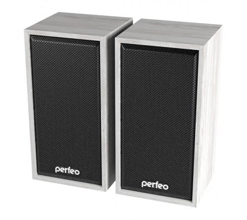 Колонки Perfeo PF-  084         Cabinet       2.0 (2*   3W)  Дерево Белый Дуб,USB.для Ноутбука