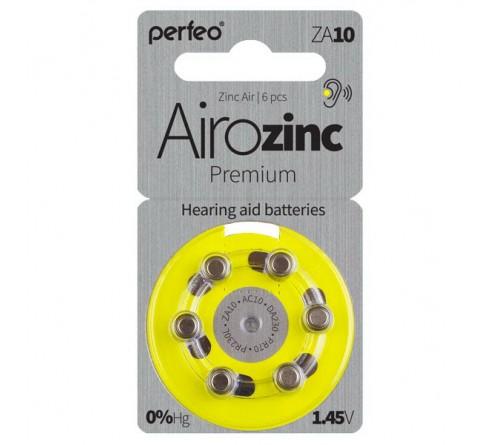 PERFEO        ZA   10  ( 6BL)(60) Airozinc Premium для слуховых аппаратов 1.4 V