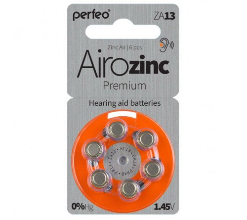 PERFEO        ZA   13  ( 6BL)(60) Airozinc Premium для слуховых аппаратов 1.4 V