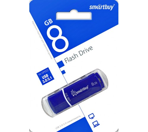 USB Флеш-Драйв    8Gb  Smart Buy Crown  USB 3.0