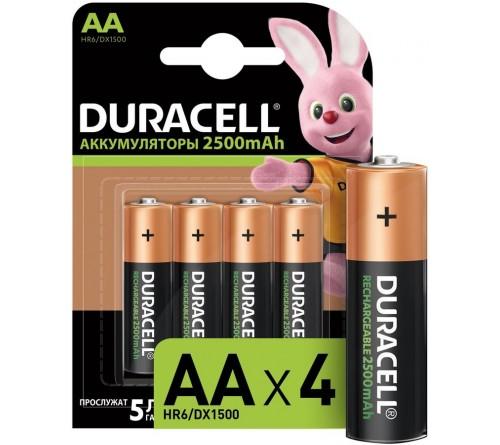 Аккум   DURACELL R6    (2400mAh / 2500mAh)(2BL)(20)(100)