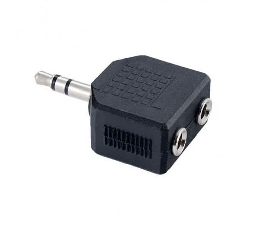 Кабель  Perfeo (A7008) 3.5 Jack (M) вилка - 2x3.5 Jack (F) розетка  адаптер (  40)