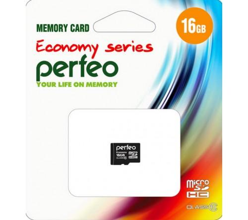Карта памяти  MicroSDHC     16Gb (Class  10)  Perfeo  без Адаптера Economy