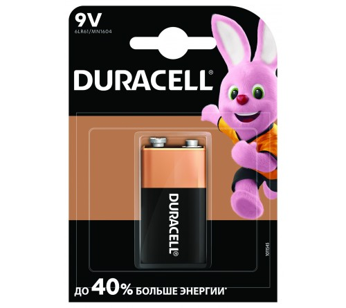 Батарейка Крона  DURACELL   6LR61(10)  Блистер Alkaline - S