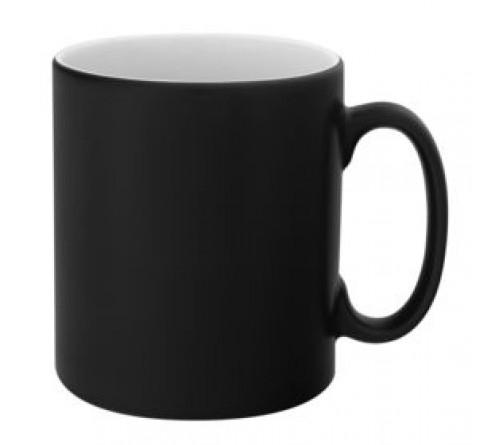 Кружка хамелеон (черная) матовая 330 мл (36)