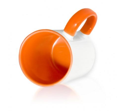 Кружка цветная внутри+цв. ручка Sublimation B101 (оранжевая) арт MUG03 330 мл