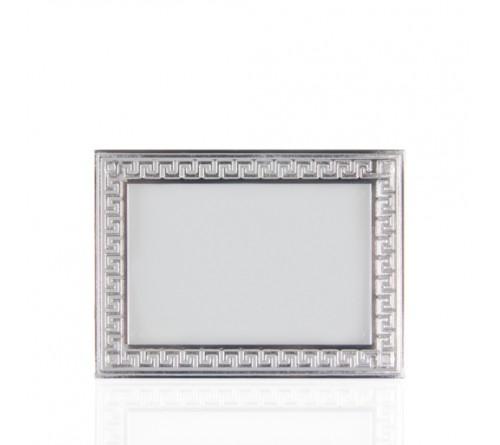 Магнит акриловый, багет с серебром 70х95 мм