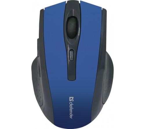 Мышь DEFENDER    665 Accura       (Nano,1600dpi,Optical) Blue Беспроводная