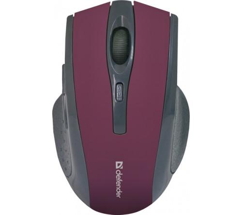 Мышь DEFENDER    665 Accura       (Nano,1600dpi,Optical) Red Беспроводная