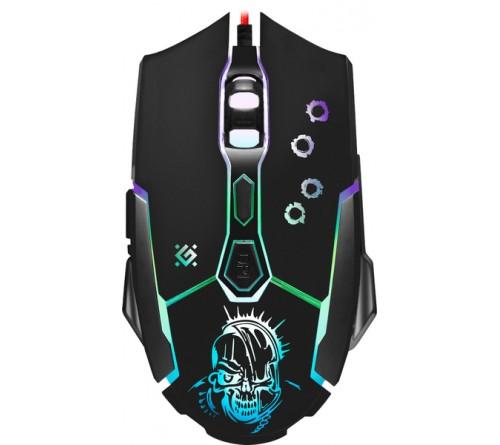 Мышь DEFENDER    GM 170L Killer             (USB, 3200dpi,Optical) Black Игровая Коробка