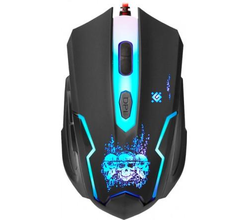 Мышь DEFENDER    GM 180L Skull             (USB, 3200dpi,Optical) Black Игровая