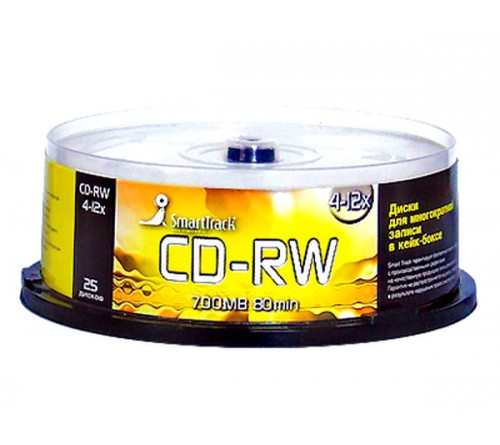 CD-RW       Smart TRACK-80  12x  (Cake   25)(600)