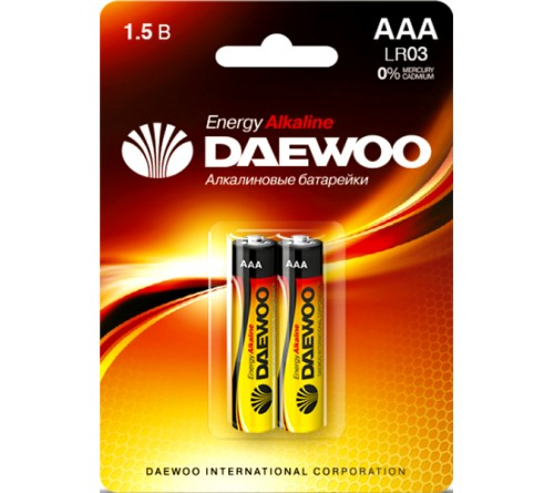 Батарейка DAEWOO         LR03  Alkaline  (  2BL)(20)(480)