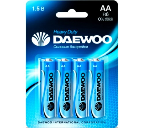 Батарейка DAEWOO         R6  (4BL)(40)(960)  Блистер
