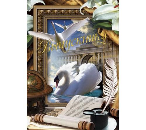 Папки двойные вертикальные Лебедь Выпускнику, Наш класс 20х30