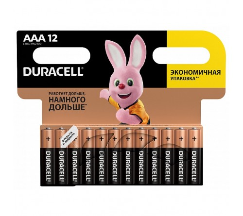 Батарейка DURACELL      LR03  Alkaline  (  12BL)(144)  BASIC
