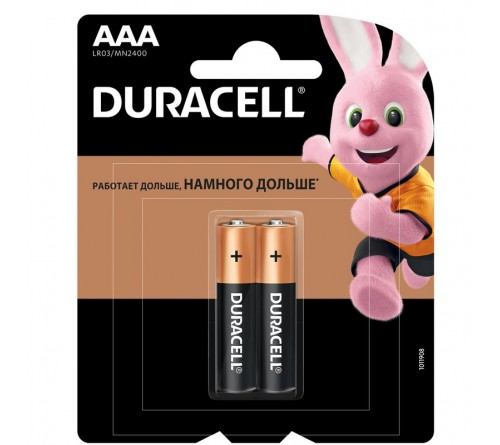 Батарейка DURACELL      LR03  Alkaline  (    2BL)(24/96)  BASIC CN