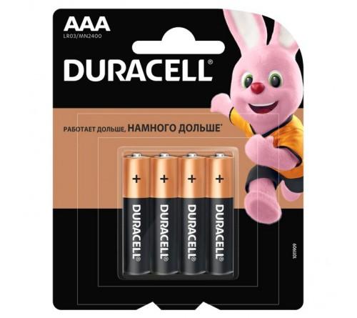 Батарейка DURACELL      LR03  Alkaline  (    4BL)(48/192)  BASIC CN