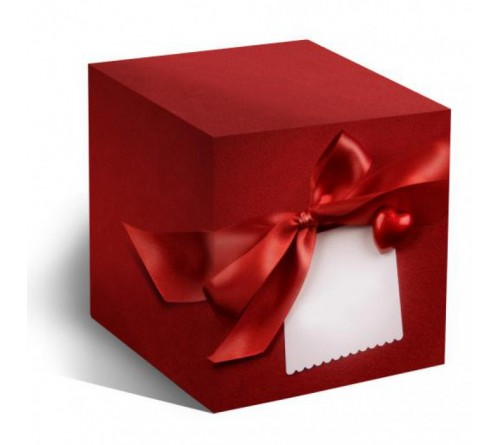 Подарочная коробка для кружки Красный бант