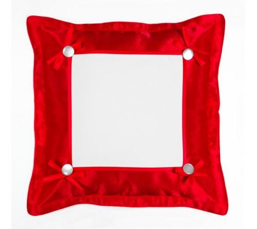 Подушка квадратная Омелия 39*39 красная 22*22