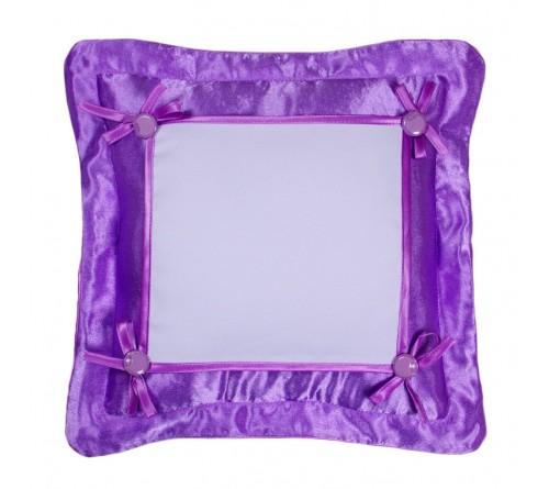 Подушка квадратная Омелия 39*39 лиловая 22*22